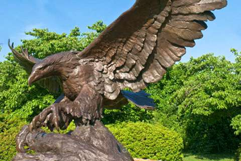 Factory Carved Life Size Bronze Eagle Sculpture BOKK-338