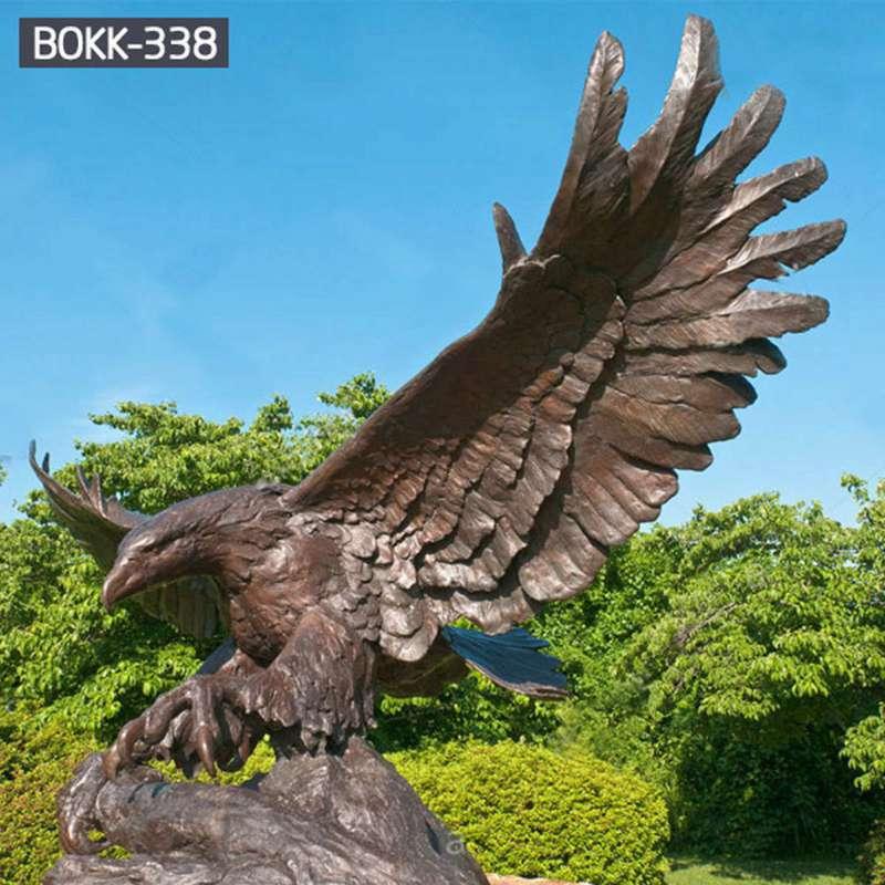 Factory Carved Life Size Bronze Eagle Sculpture