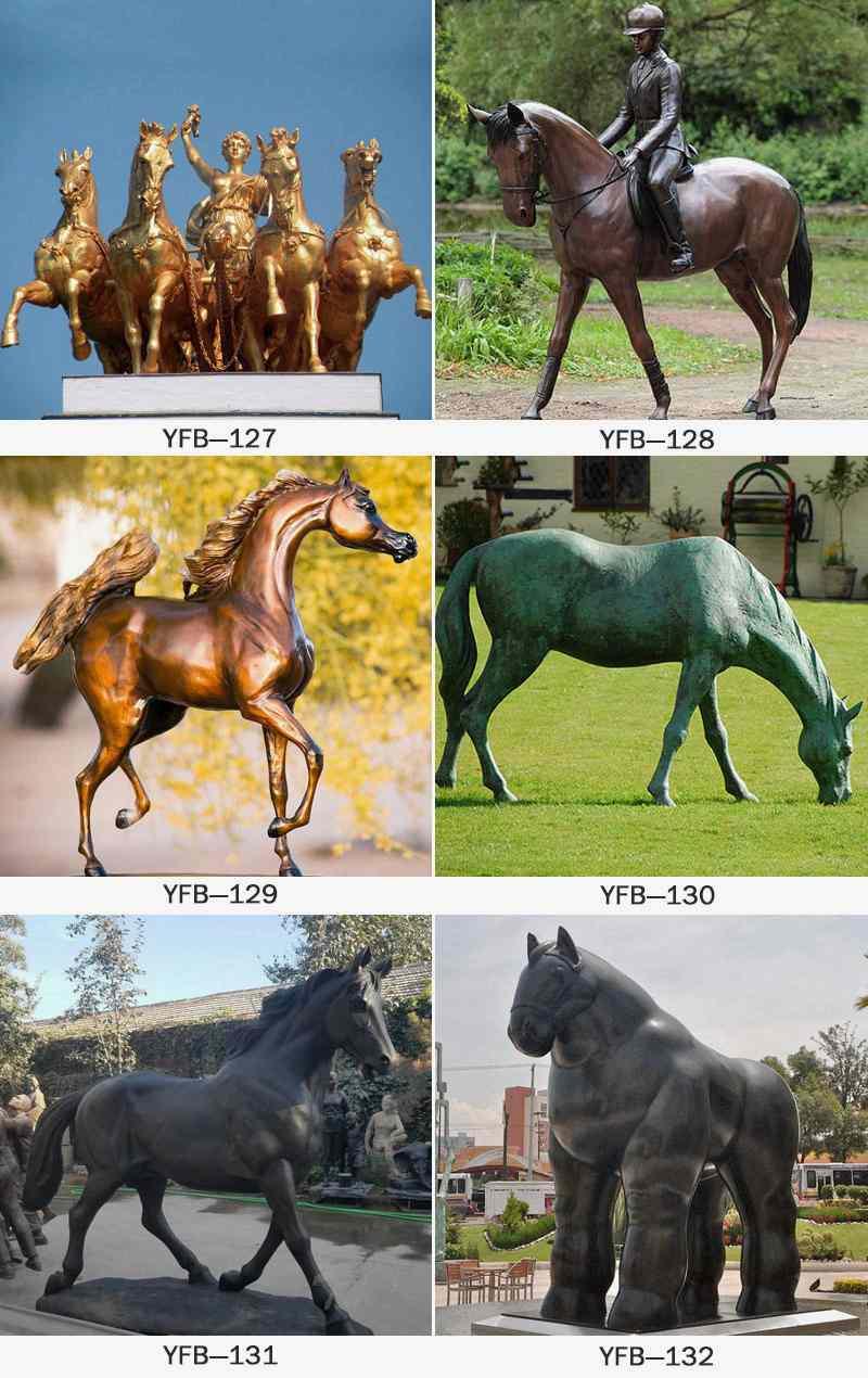 Large Bronze Horse Sculpture for Park BOKK-214
