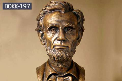 Sale Vivid Bronze Bust statue of Lincoln on Line BOKK-197