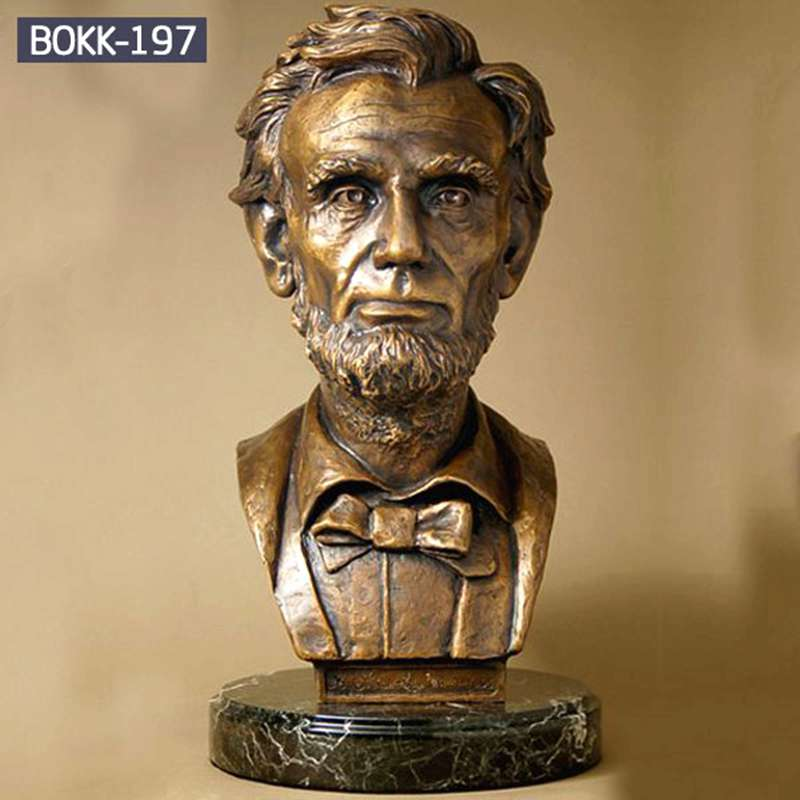 Sale Vivid Bronze Bust statue of Lincoln on Line