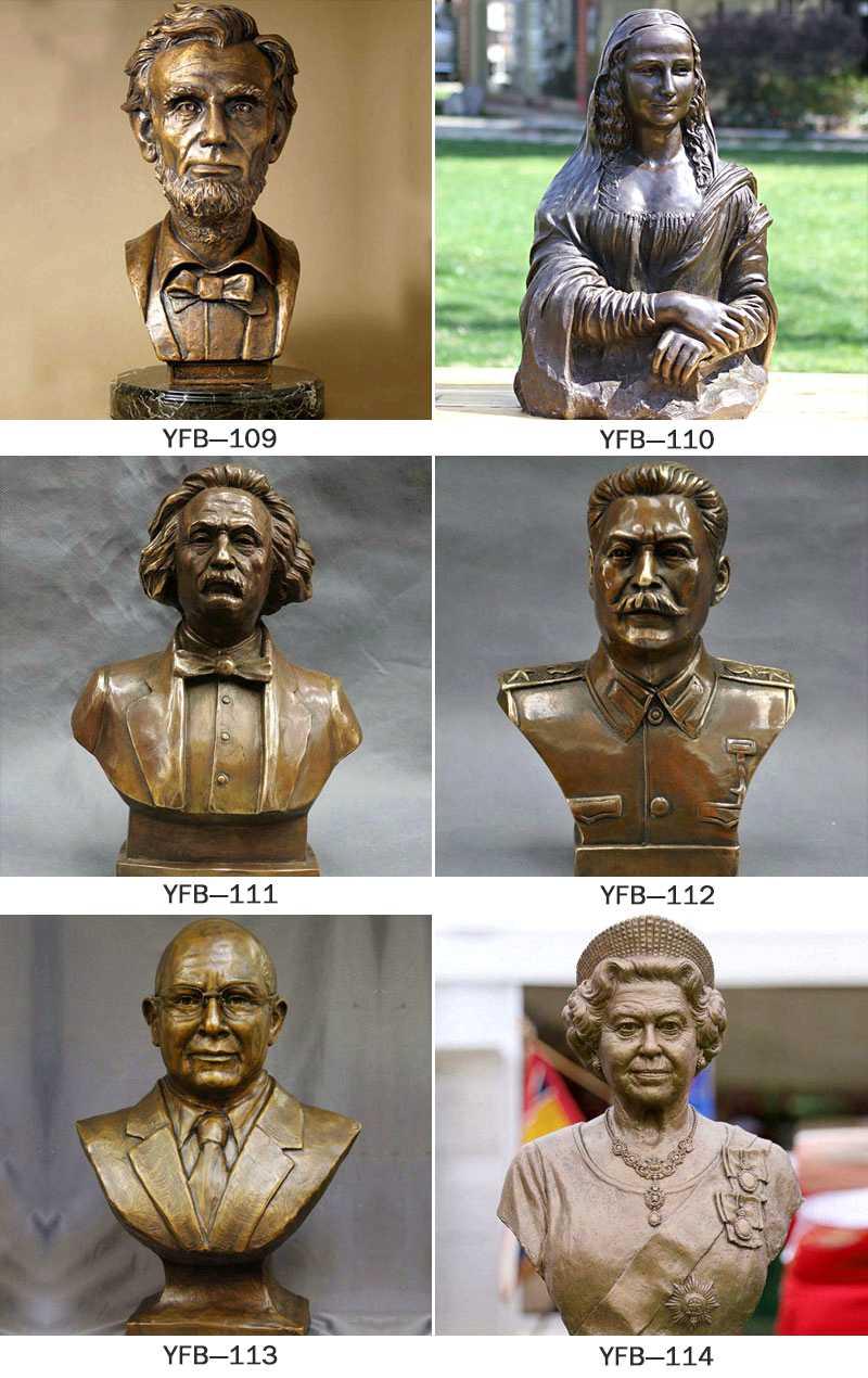 Vivid Bronze Bust statue of Lincoln on Line BOKK-197