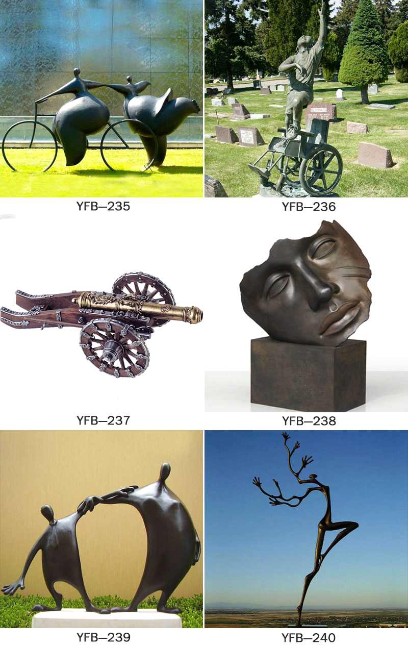 Bronze Face Art Sculpture for Park BOKK-417