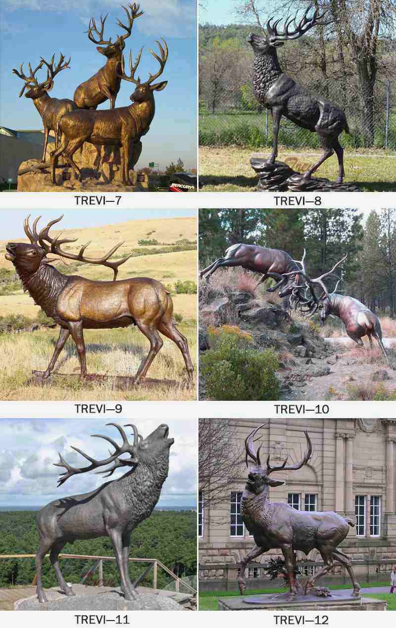 Bronze Red Deer Sculpture on Sale BOKK-265