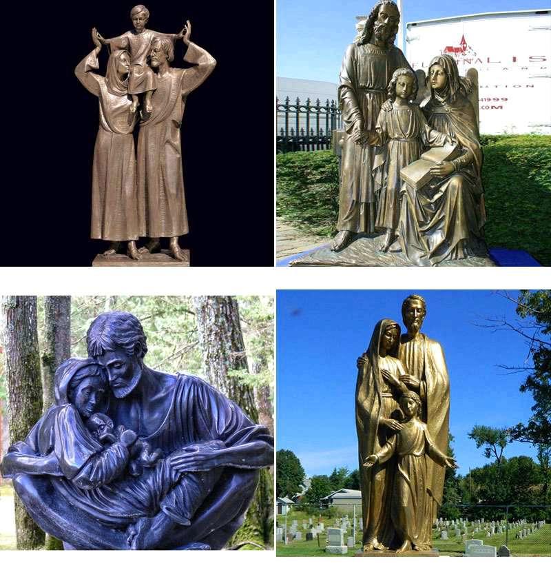 Bronze Sculptures of Holy Family BOKK-603