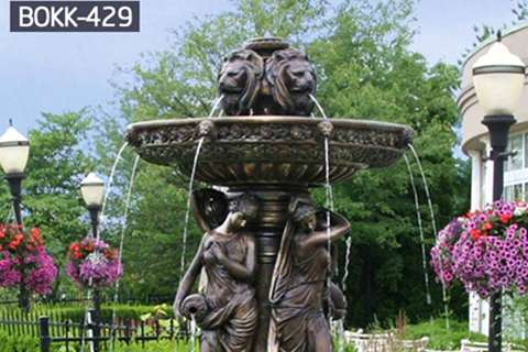 Factory Supply Popular Bronze Fountain with Statue BOKK-429