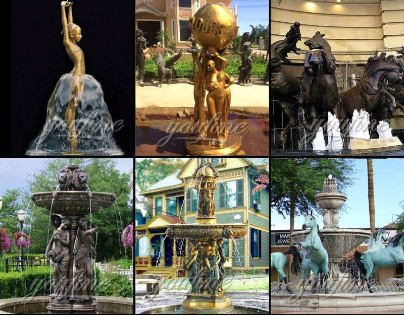 Factory Supply Popular Bronze Fountain with Statue BOKK