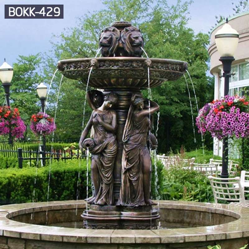 Factory Supply Popular Bronze Fountain with Statue