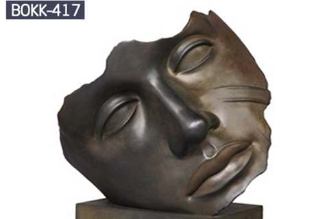 Hot Sale Bronze Face Art Sculpture for Park BOKK-417