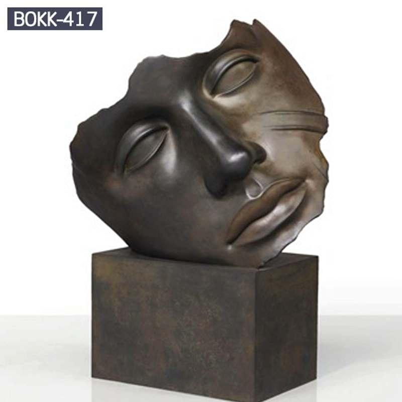 Hot Sale Bronze Face Art Sculpture for Park