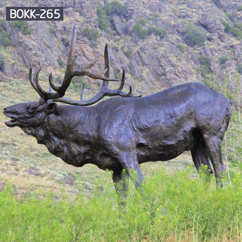 Large Bronze Red Deer Sculpture on Sale