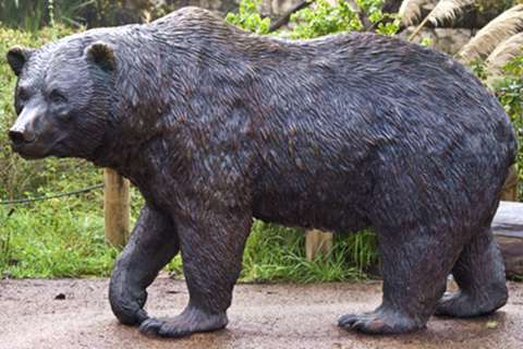 Large Wild Bronze Bear Sculpture for Sale BOKK-02