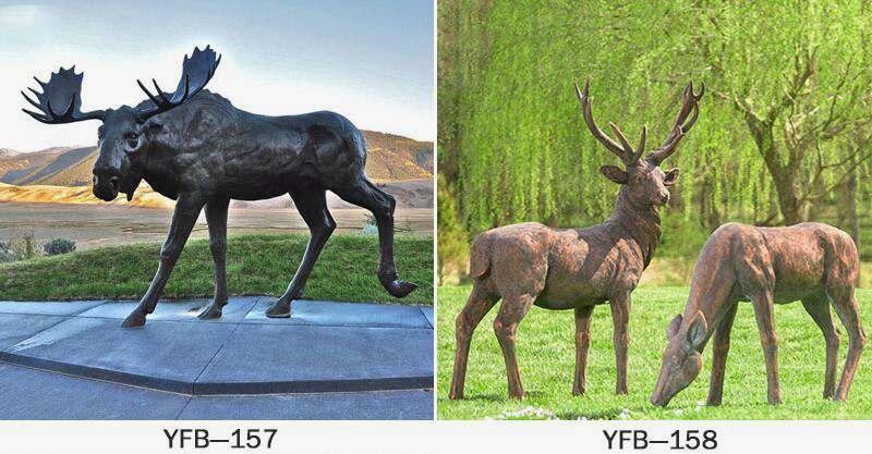 Life Size Bronze Deer Statue for Sale BOKK