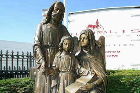 Religious Bronze Sculptures of Holy Family BOKK-603