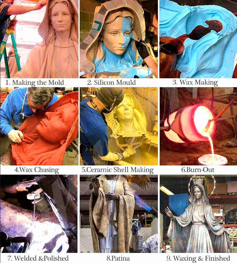 Religious Bronze Sculptures of Holy Family BOKK