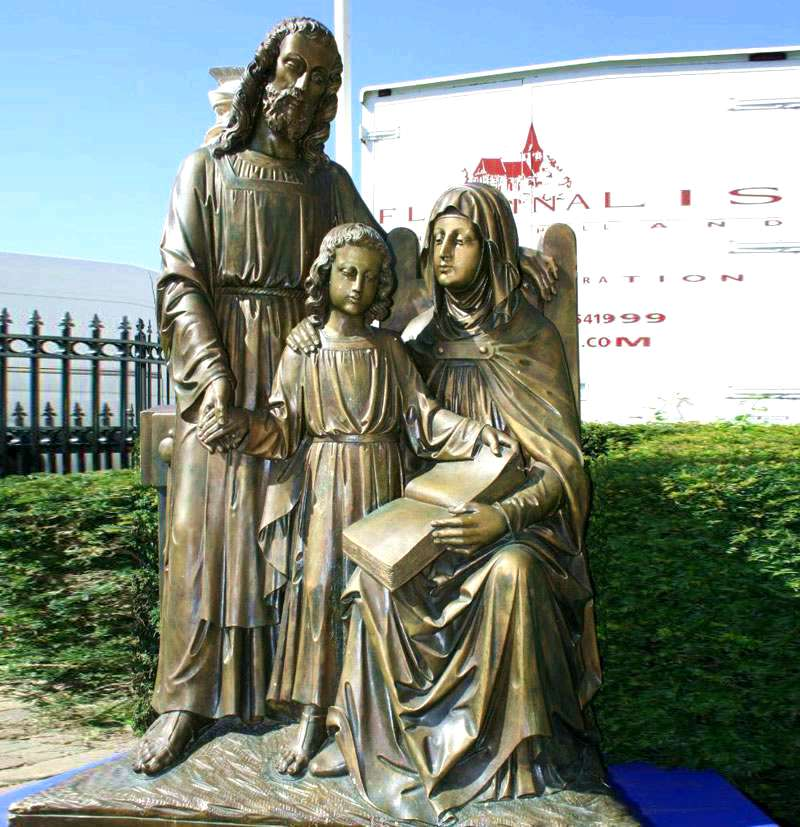 Religious Bronze Sculptures of Holy Family