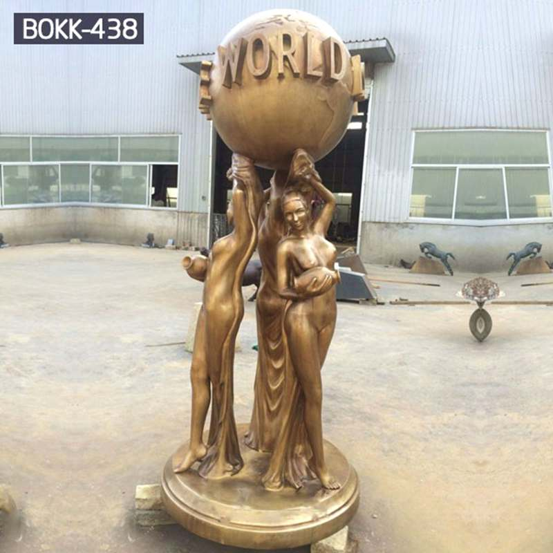 Slae Attractive Bronze City Sculpture of The World is Yours