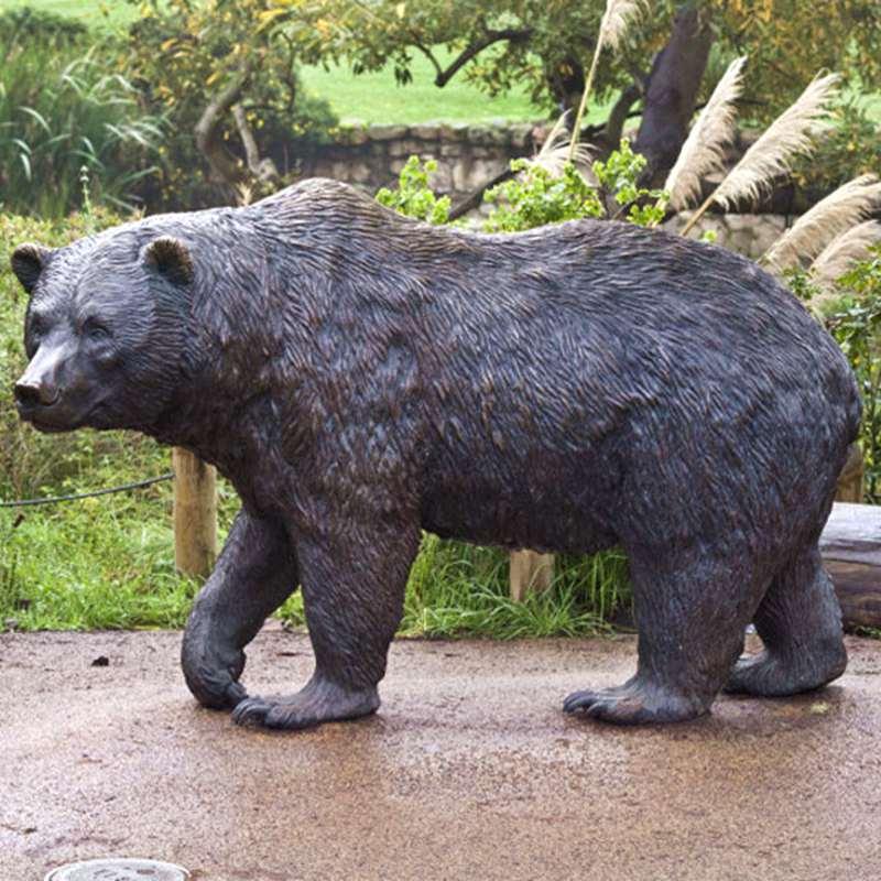 Wild Bronze Bear Sculpture for Sale
