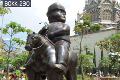 Factory Supply Large Bronze Sculpture of Man on a Horse BOKK-230