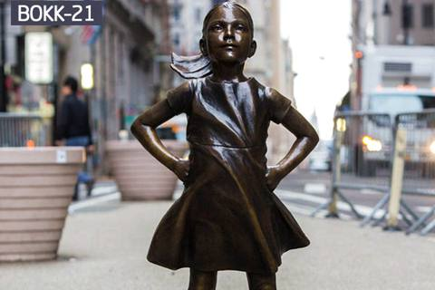 Life Size Famous Bronze Sculpture of Fearless Girl BOKK-21
