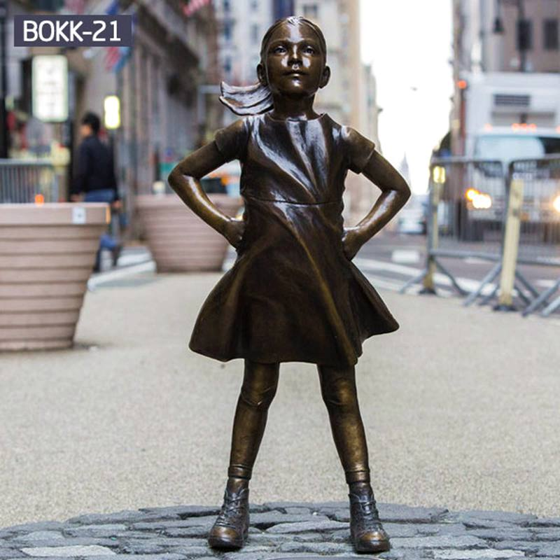 Life Size Famous Bronze Sculpture of Fearless Girl
